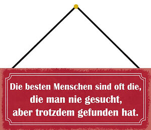 Menschen Never Wanted Be Found Shield with Cord Tin Sign 10 X 27 CM K0759-K