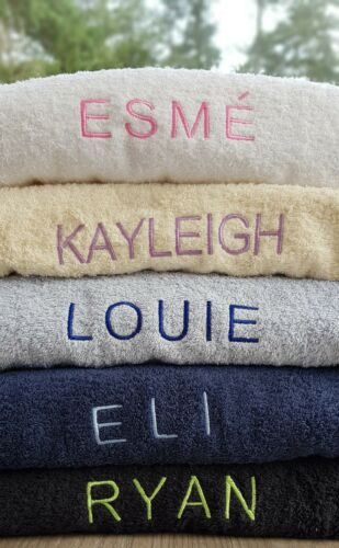 Bath Towel Bath Sheet or Set Luxury Embroidered Personalised Face Cloth Hand