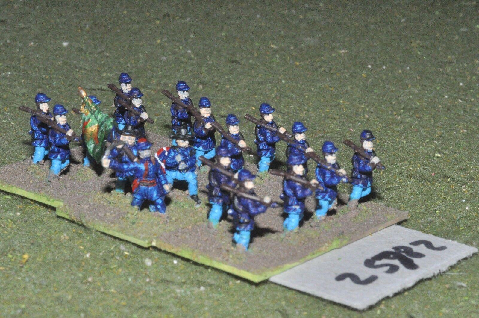 15mm ACW   union - regt. 18 figures - inf (25782)