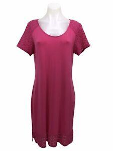 Tommy Bahama Tambour Eyelet Short Sleeve Dress Women's Size M
