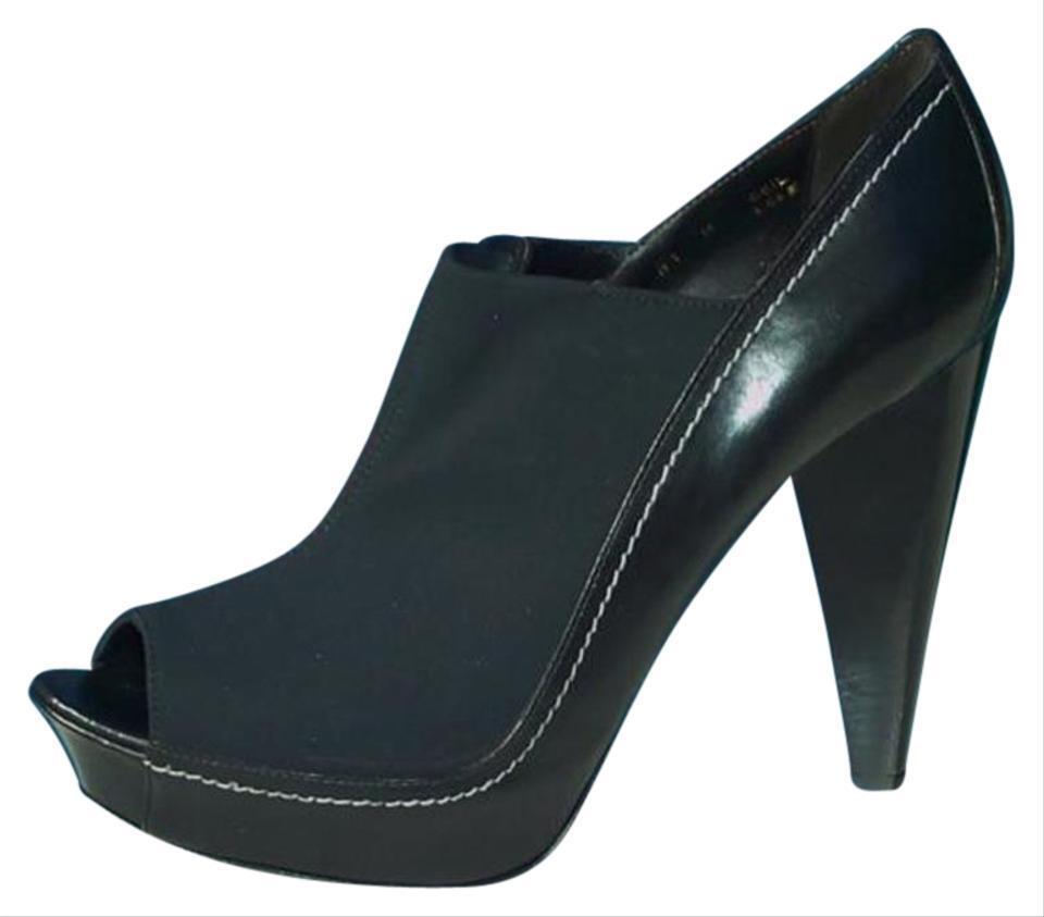Donald Pliner Couture Leather Platform chaussures New Crepe Elastic Peep Toe NIB  395