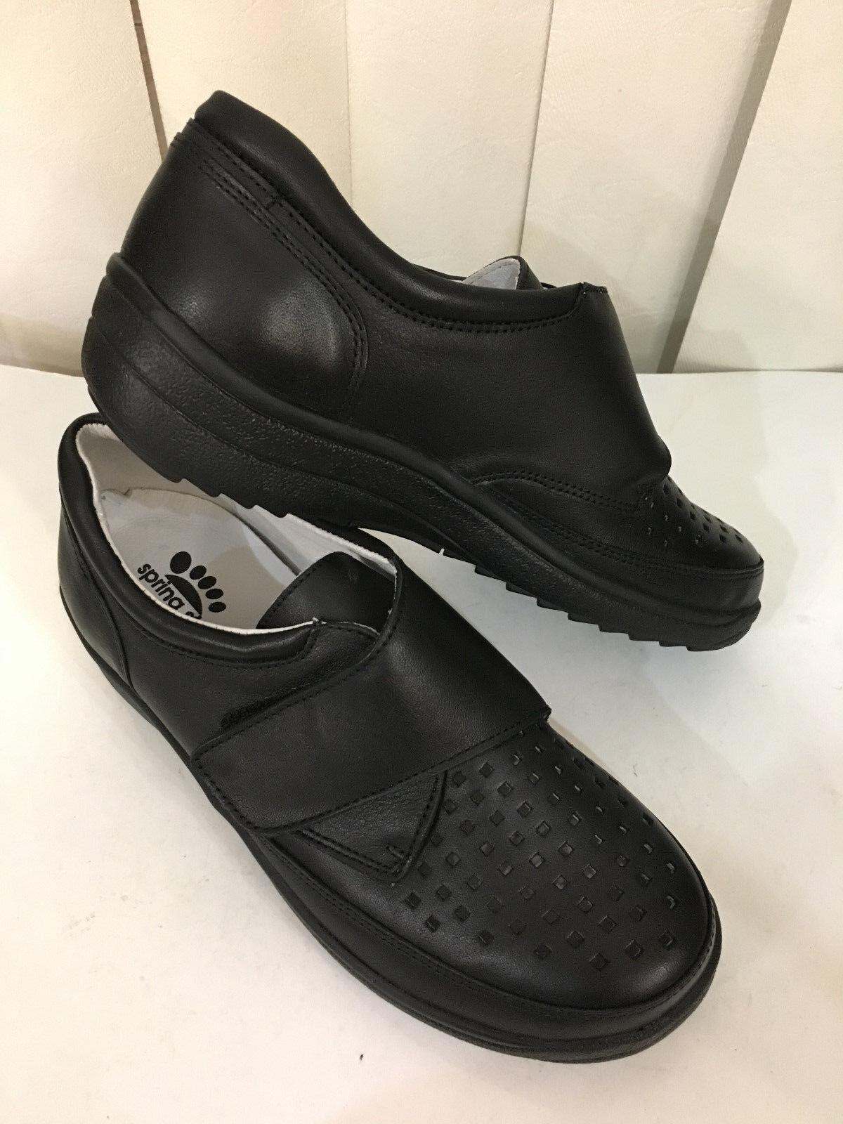 una marca di lusso Spring Step Crestor nero Leather Low Wedge Wedge Wedge Strap Dimensione 35-42 (US 5-11)  vendite dirette della fabbrica