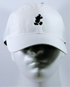 Disney Parks Exclusive Mickey White Nike Dri Fit Baseball Golf Cap ... 0a67f8343cc