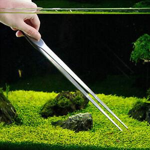 27CM-Stainless-Steel-Tweezers-Aquarium-Live-Tank-Curve-Plant-Long-Tongs-Scissor