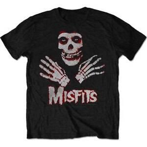 Misfits-039-Two-Colour-Fiend-Skull-039-T-Shirt-Official-Merchandise-Danzig