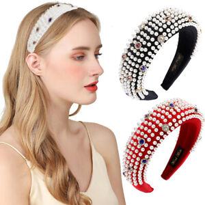 Baroque Ladies Embellished Headband Hairband Jewelled Hair Crown Prom Wedding