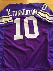Details about Vikings Fran Tarkenton custom unsigned jersey