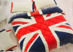 Piumone Singolo Bandiera Inglese.Dettagli Su Trapunta Invernale Piumone Matrimoniale Bandiera Inglese Gabel Union Jack