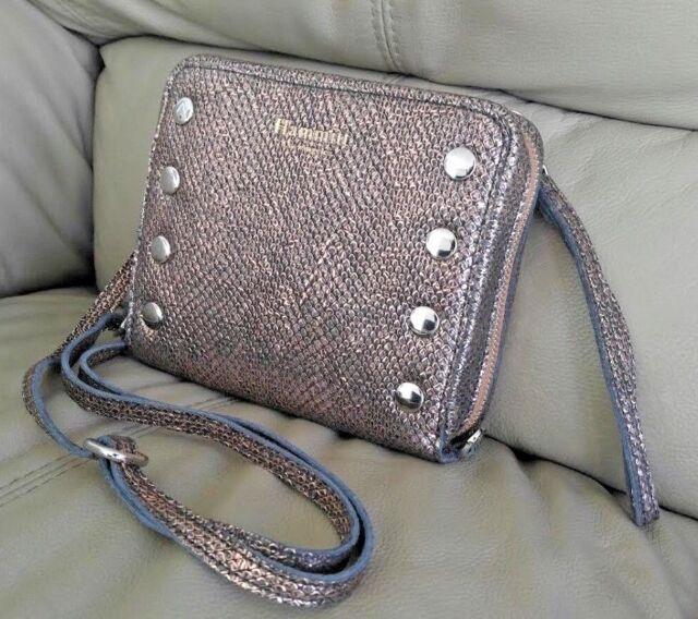a5864f55a1ab Hammitt Caleb Zion Cross body Bag Clutch Snake Bronze Metallic Leather NWT  $325