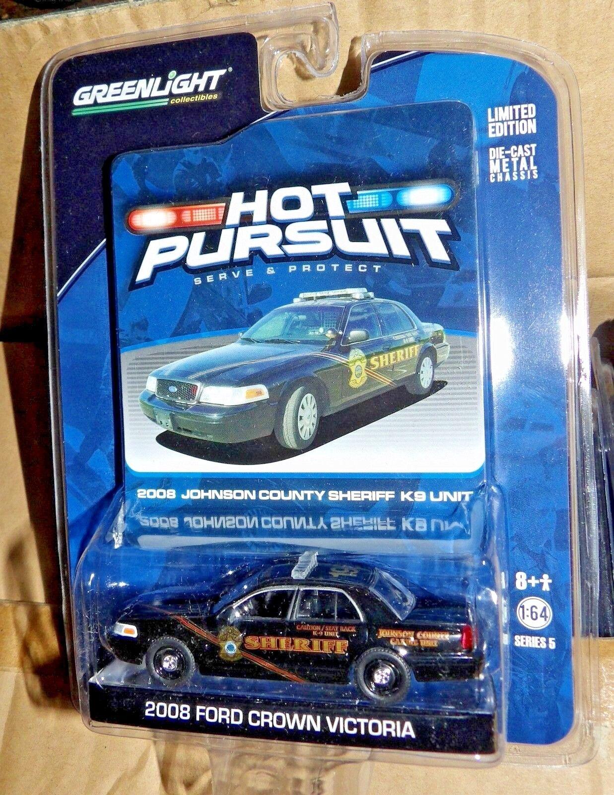 vertlumière Hot Pursuit Series 5 Johnson Co. 198 KS  Sheriff K9 Very Rare MOC 2010  les dernières marques en ligne