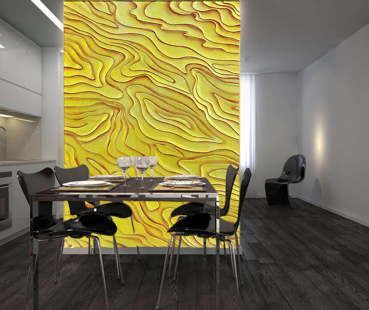 3D Yellow Line 4249 Wallpaper Murals Wall Print Wall Mural AJ WALLPAPER UK Lemon