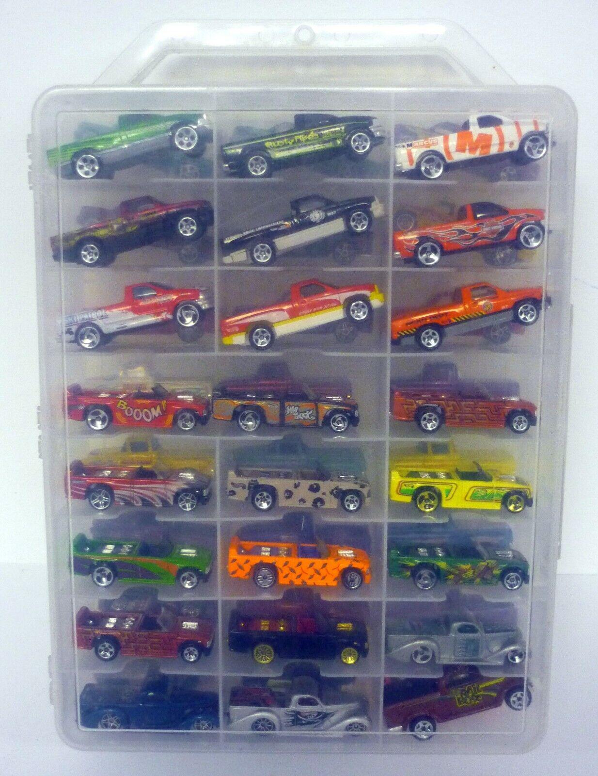 Hot Wheels 48 estuche de transporte coche con autos shrowroom camiones Chevy & Dodge DIE-CAST