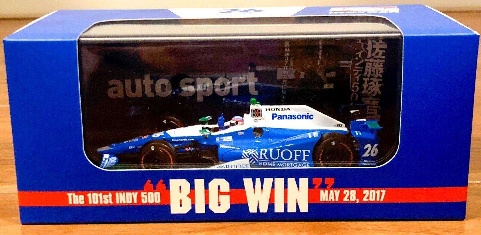 JPN LE as-ed,   IndyCar 1 43 Andretti Autosport Takuma Sato 2017 Indy500 winner