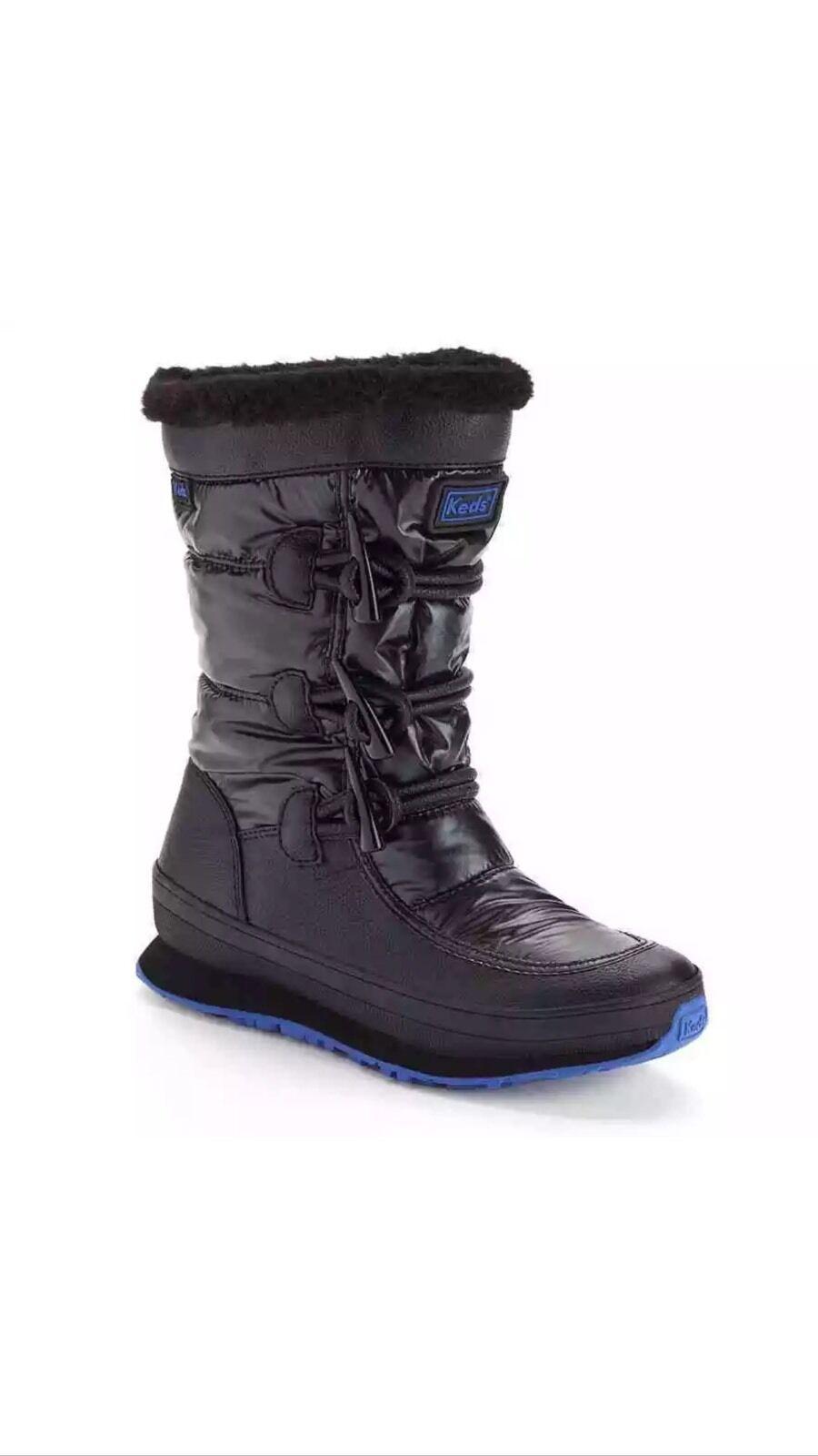 Keds Powder Puff Women's Boots Style WF52046 NWB Black Sz 6