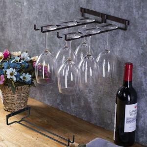 Edelstahl-Weinglashalter-Hanging-Rack-Lagerung-fuer-Cabinet-Bar-Decor