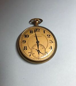 Vintage Burlington Pocket Watch 1920s 12s 21j 275 Grade Illinois Watch Co