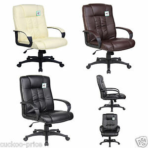 New-Swivel-Executive-Office-Furniture-Computer-Desk-Office-Chair-in-PU-Leather