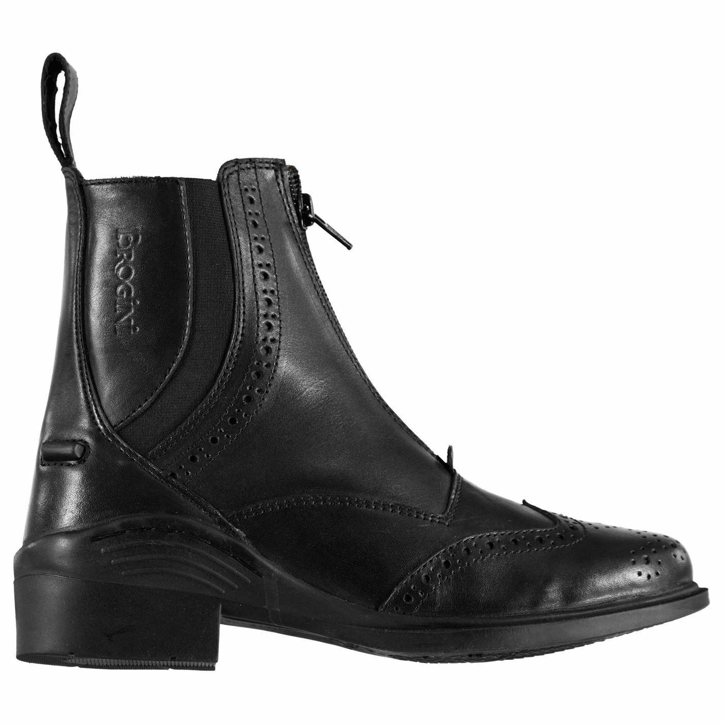 Brogini Womens Epsom Jodhpur Boots shoes Zip Equestrian Wingtip  Brogue Elastic  support wholesale retail
