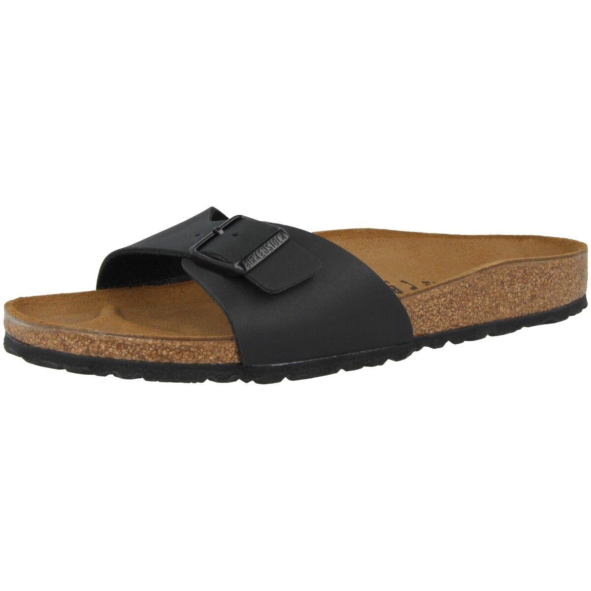 Birkenstock 040791 Madrid Birko-Flor Schuhe black 040791 Birkenstock Damen Pantolette Weite normal 6c10e7