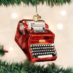 OLD WORLD CHRISTMAS TYPEWRITER GLASS CHRISTMAS ORNAMENT 32256
