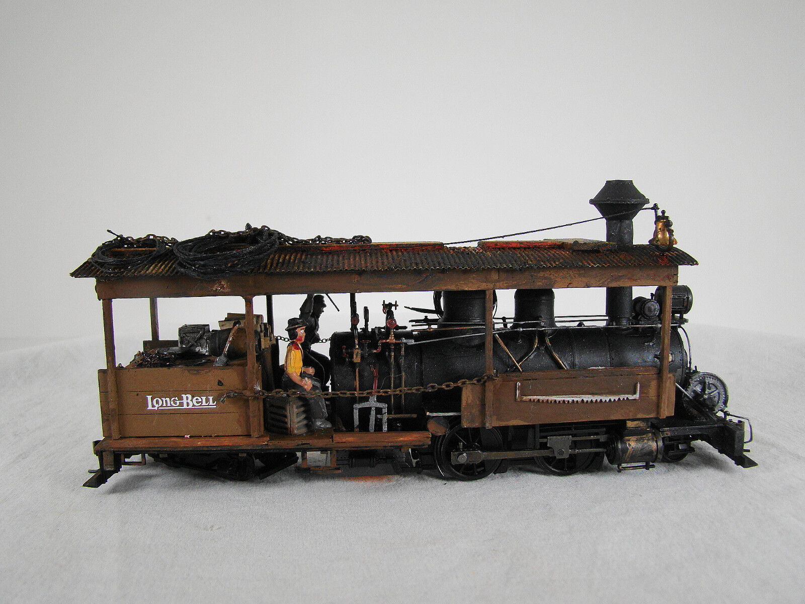 On30 Logging Steam Locomotive - custom built and weatherosso - DCC + Sound