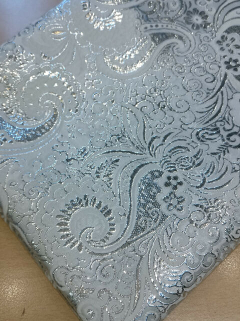 FUCHSIA Luxury Textured Gold Flower Leaf Brocade Dress Fabric Metallic Fancy1277