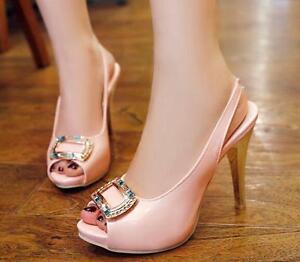 f9a38f3a22f2 Caricamento dell'immagine in corso Stiletto-Scarpe-decolte-sandali-eleganti- donna-tacco-spillo-