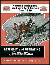 1939 1952 Ford Tractor Dearborn Implement Assembly And Operating Manual 2n 8n 9n
