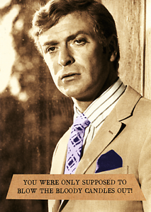 Image Is Loading Funny Birthday Greeting Card Michael Caine Italian Job
