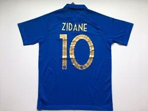Zinedine Zidane 10 France Blue Jersey Men Size L Xl Free Shipreturn Us Seller Ebay