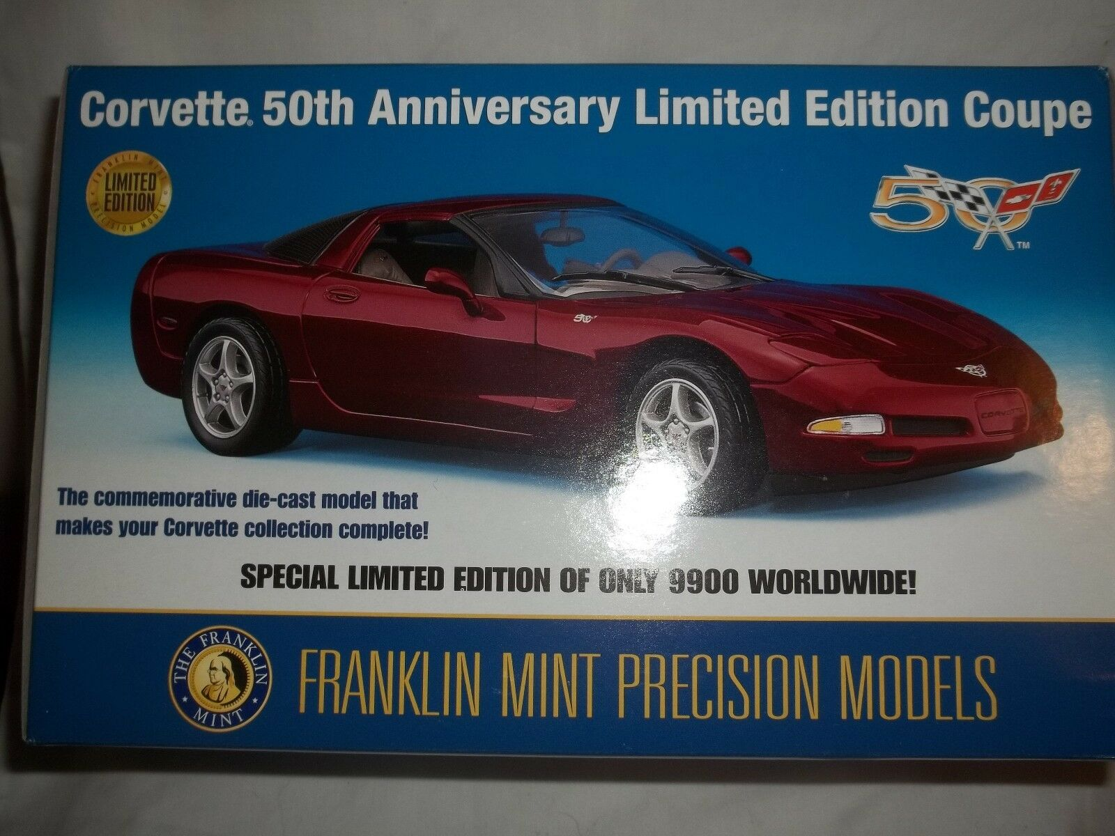Franklin mint Corvette 2003 Coupe 50th Aniversario Edición Limitada 1 24 mint & boxed