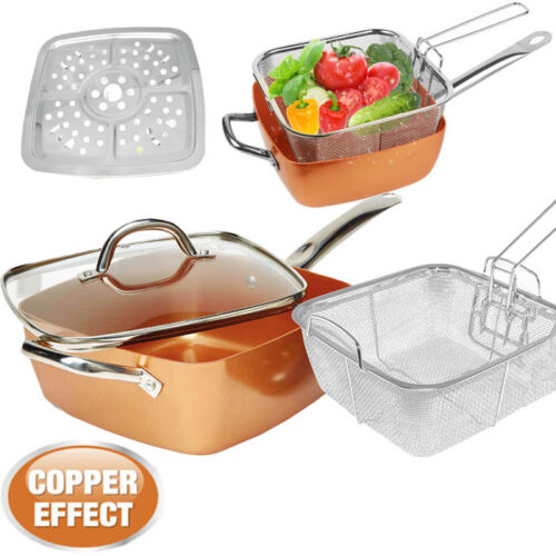 4PC-NON-STICK-CHIP-PAN-OVEN-SET-FRYER-DEEP-FAT-FRYING-BASKET-POT-WITH-GLASS-LID
