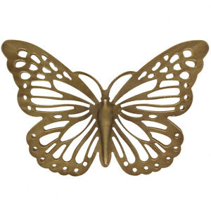 Adorable Gold Metal Butterfly In Outdoor Wall Art Decor Sculpture EBay