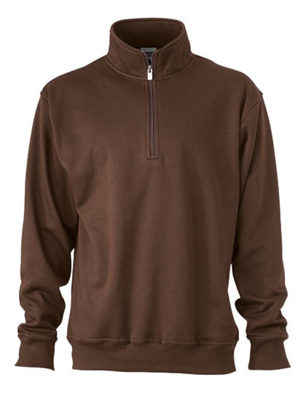 Workwear Half Zip Sweatshirt +Waschbar bis 60 °C   James+Nicholson   Zarte