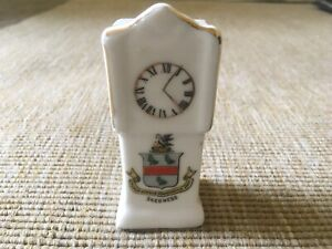 Vintage-Crested-China-Skegness-Grandfather-Clock-Collectable-Ornament