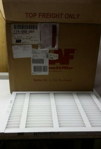 """174-500-001 AMERICAN AIR FILTER PERFECTPLEAT 16/""""X20/""""X1/"""" NEW CASE OF 12"""