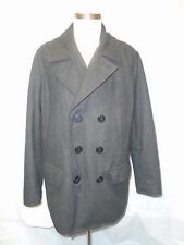 American Eagle Outfitters Gray Wool Blend Double-Breasted Peacoat Men's XL NWOT