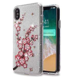 Details About Shockproof Hybrid Bling Glitter Sparkle Case For Iphone Xs Max 2018 Flowers