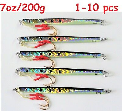 1-10 pcs 300g //10.5oz Sardine Vertical Speed Butterfly Jigs Saltwater Fish Lures