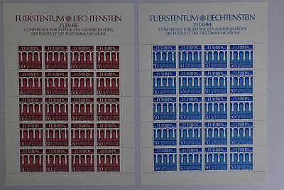 6 Genossenschaft N6 Liechtenstein 837/838 Kleinbogensatz Postfr Kompl. Mw 40,-
