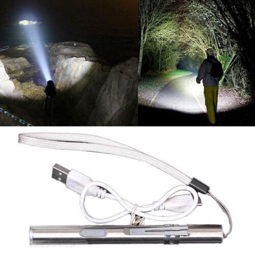 8000LM Lamp Flashlight Torch LED Pen USB Rechargeable Light Lamp IR