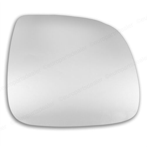 Driver Side CONVEX WING DOOR MIRROR GLASS VW Transporter T5 2010-2016 Stick On