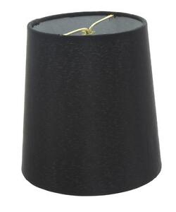 inch european drum style chandelier lamp shade mini shade black ebay. Black Bedroom Furniture Sets. Home Design Ideas