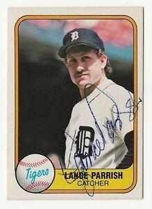 Lance Parrish signed 1981 Fleer baseball Detroit Tigers autograph