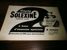 SOLEXINE - VELOSOLEX - Publicité de presse / Press advert !!! 1956 !!!