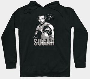 Ray Black Hoodie Gloves Boxer Sugar Boxing Robinson Jumper d0pPq