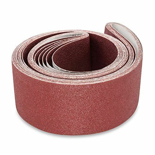 3 X 132 Inch 320 Grit Flexible Aluminum Oxide Multipurpose Sanding Belts 4 Pack