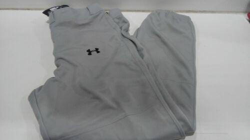 XL  Gray Under Armour Men/'s UA Clean Up Cuffed Baseball Pants