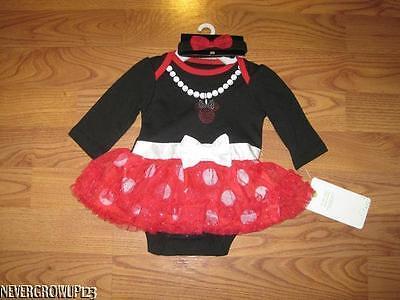 DISNEY BABY MINNIE MOUSE OUTFIT~HALLOWEEN COSTUME~TUTU~DRESS~NEWBORN~3-6 M~NWT
