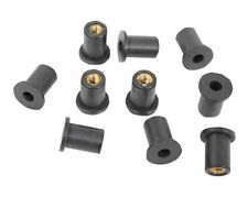Motorcycle rubber Well nuts M6 high quality, Fairing rubber well nuts. x 20